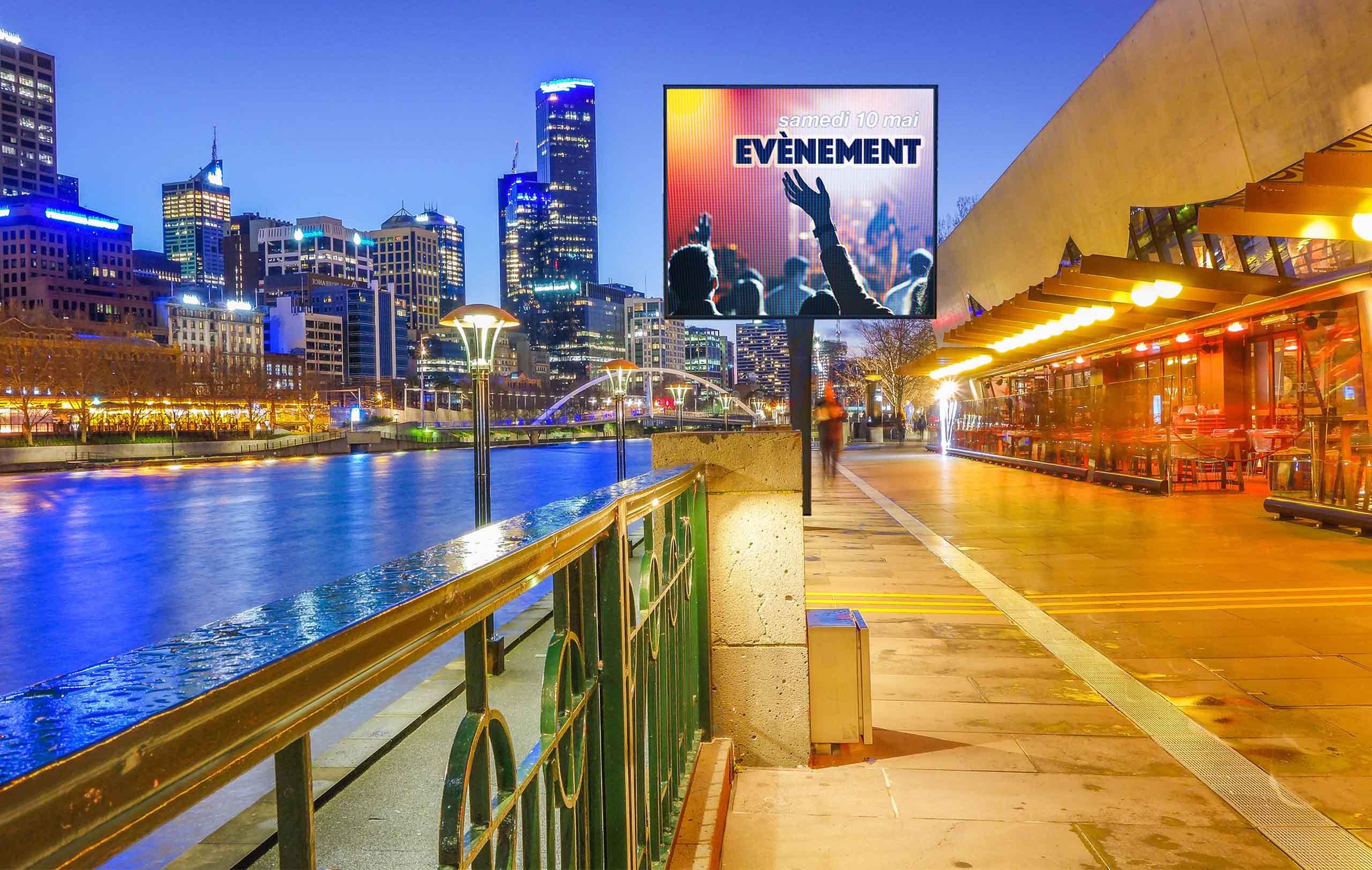 écrans led affichage urbains grand est