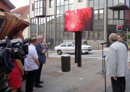 Inauguration écrans led afficheurs